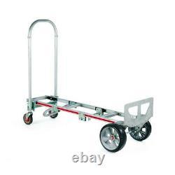 1,000 lb. Capacity gemini sr. Convertible aluminum modular hand truck with mic