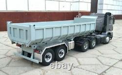 1/14 2-axle 550mm Hand Made Large Aluminum Scale Dumper Semi Trailer NEW IN BOX