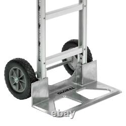 18 Wide Aluminum Hand Truck Cart Heavy Duty Dolly Rubber Wheels Curved Handle