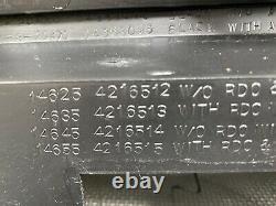 1981-1993 DODGE Ram D150 D250 INSTRUMENT CLUSTER DASH BEZEL TRIM PANEL BLACK