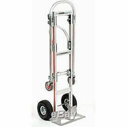 2-In-1 Convertible Hand Truck with Pneumatic Wheels