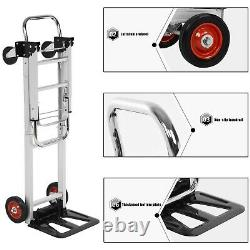 2 In 1 Folding Hand Truck Stair Climber Hand Truck Aluminum Cart Dolly 330LBS