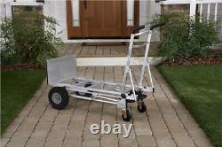 2 Wheel Dolly Hand Truck Cart Mover Heavy Duty Aluminum Never Flat Tires 1000 lb