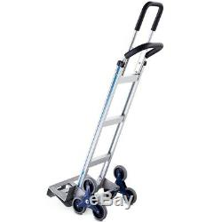 2 in 1 550 lbs Folding Hand Truck Stair Aluminum Cart Dolly