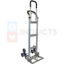 2 in 1 Aluminum Hand Climbing Stairs Truck for Warehouse Moving Heavy Goods