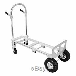 2 in 1 Aluminum Hand Truck Convertible Folding Dolly Cart Stair Climber 770LBS