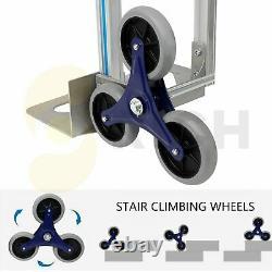 2 in 1 Handle Aluminum Stair Climber Hand Trucks Foldable Durable 550lbs Truck