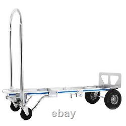 2in1 Folding Aluminum Hand Truck Dolly 880LBS Capacity Convertible Utility Cart
