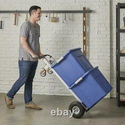 3 In 1 Aluminium Hand Truck Wheelbarrow Sack Wheel Cart Flat-Free Heavy Duty UK