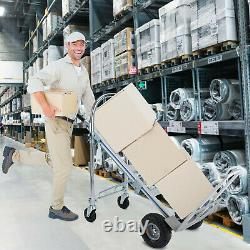 3 In 1 Aluminum Hand Truck Dolly 770lb Stair Climbing Cart Folding Multifunction
