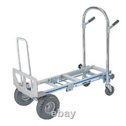 3 In 1 Aluminum Hand Truck Dolly Stair Climbing Cart Folding Multifunction 770lb