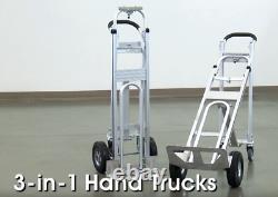 3 In 1 Aluminum Hand Truck Stair Climbing Cart Folding Multifunction NEW