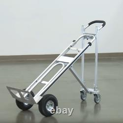 3 In 1 Aluminum Hand Truck Stair Climbing Cart Folding Multifunction with Pneuma