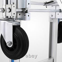 3 In 1 Folding Hand Truck Trolley Heavy Duty Dolly Aluminum 4 wheels 350kg
