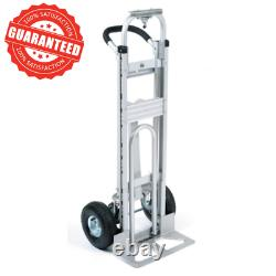 3-in-1 Aluminum Convertible Hand Truck Dolly 500 lb. Capacity With Pneumatic Wheel