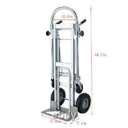 3 in 1 Aluminum Folding Sack Truck Hand Trolley Cart Car Heavy Duty Home Use US