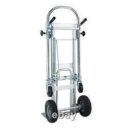 3 in 1 Aluminum Folding Truck Collapsible Hand Trolley Cart Car Heavy Duty Cart