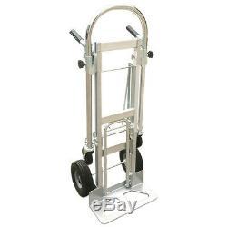 3 in 1 Aluminum Four Wheel Hand Cart Truck Foldable Regular Dolly 350kg Capacity
