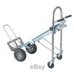 3In1 Aluminum Hand Truck Convertible Folding Dolly Platform Cart Capacity 770LB
