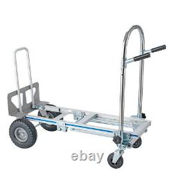 3In1 Aluminum Hand Truck Convertible Folding Dolly Platform Cart Capacity xl