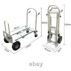 3in1 Aluminum Convertible Hand Truck Versatile Cart Trolley Commercial Grade TOP