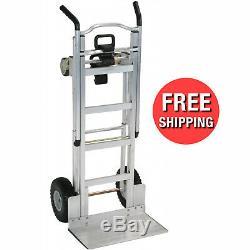 3in1 Position Aluminum Hand Truck Foldable Dolly Cart 1000 lb Capacity Ergonomic