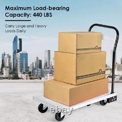 440 lbs/770 lbs Folding Aluminum Platform Hand Truck