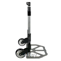 5pcs Foldable Aluminium Folding Luggage Cart And Hand Truck Trolley Wheel 176lbs