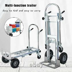 770 lbs Aluminium Luggage Cart Folding Dolly Push Truck Hand Collapsible Trolley