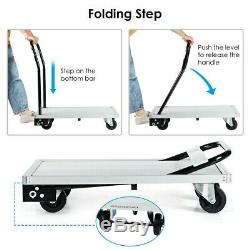 770 lbs Folding Aluminum Platform Hand Truck Foldable Dolly Cart Heavy Duty