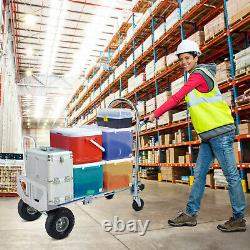 770lbs Cart Folding Dolly Collapsible Trolley Push Hand Truck Moving with Wheels