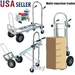 772LB Portable Cart Folding Dolly Push Truck Hand Collapsible Warehouse Trolley