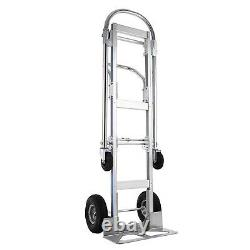 880 Lbs Aluminum Hand Truck 2 in 1 Heavy Duty Convertible Folding Dolly Cart