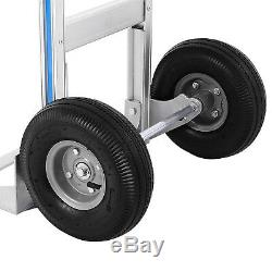 880LBS 2 In 1 Aluminum Hand Truck Foldable Dolly Cart Stair Climber Convertible