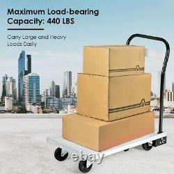 Aluminium Hand Truck Heavy Duty Folding Platform Dolly Foldable Cart 770 lbs