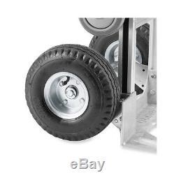 Aluminum 2-in-1 Convertible Jr Hand Truck with Pneumatic Wheels 500lb Capacity