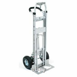 Aluminum 3-in-1 Convertible Hand Truck with Pneumatic Wheels