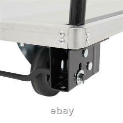 Aluminum 350kg Convenient Foldable Flatbed Trolley Cart Hand Trucks-2041-350