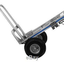 Aluminum Folding Hand Truck 3 In 1 Convertible 1000lbs Capacity Industrial Cart