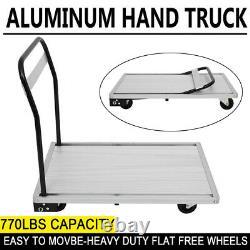 Aluminum Hand Flat Truck Convertible Folding Dolly Platform Cart 770LBS Capacity