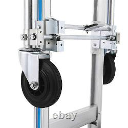 Aluminum Hand Truck Dolly 2 in 1 Convertible 880 LBS Capacity Dolly Utility Cart
