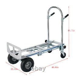 Aluminum Hand Truck Dolly 772LBS Capacity 2in1 Convertible Folding Utility Cart