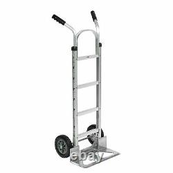 Aluminum Hand Truck Double Handle, Mold-On Rubber Wheels