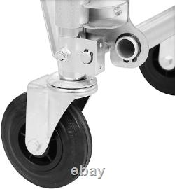 Bltpress 2In1 Aluminum Hand Truck Foldable Alloy Dolly 2/4 Wheels 770Lbs Folding