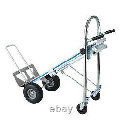 Convertible Heavy Duty Hand Truck 3 in 1 Dolly Aluminum 4 Wheel Cart 1000 Lb