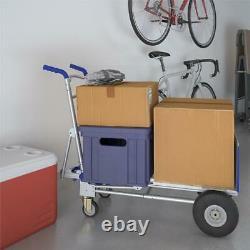 Convertible Heavy Duty Hand Truck 3in1 Dolly Aluminum 4 Wheel Cart 1000 Lb Blue