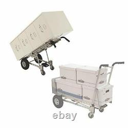 Cosco 3-in-1 Aluminum Hand Truck/Assisted Hand Truck/Cart with flat free wheels