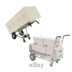 Cosco 3-in-1 Aluminum Hand Truck Foldable Dolly Cart 1000 lb Capacity Ergonomic