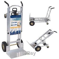 Cosco Aluminum Hand Truck Foldable Dolly Cart 1000 lb Capacity Ergonomic Handles