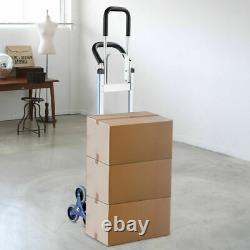 Costway 2 In 1 Folding Hand Truck Stair Climber Hand Truck Aluminum Cart Dolly